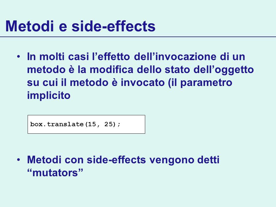 Metodi e side-effects