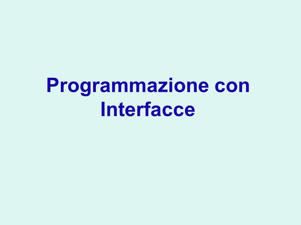 Programmazione con Interfacce