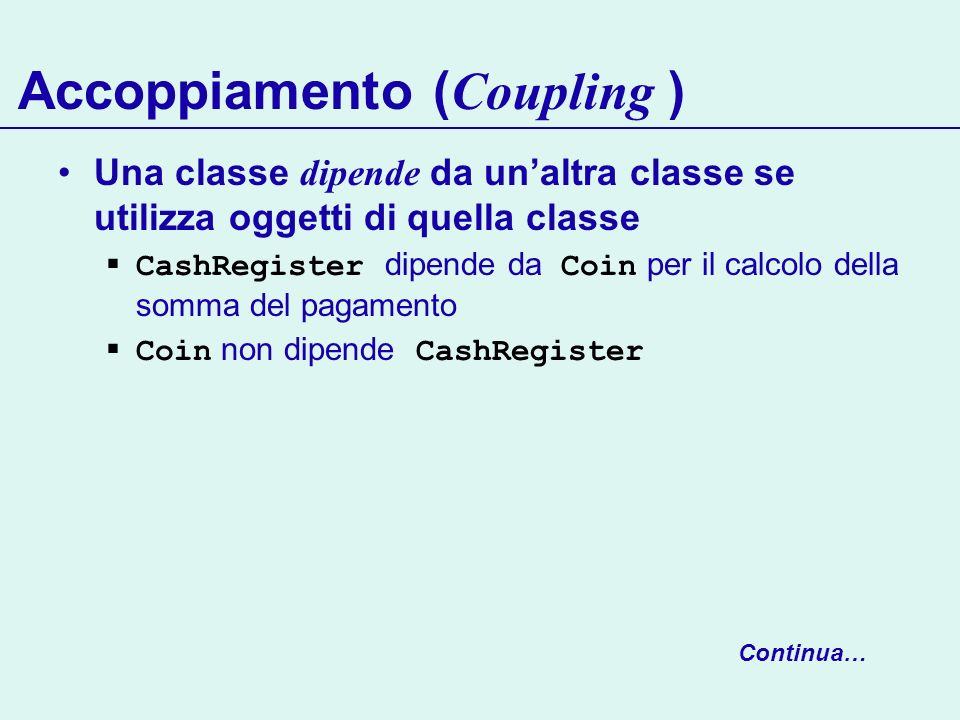 Accoppiamento (Coupling )