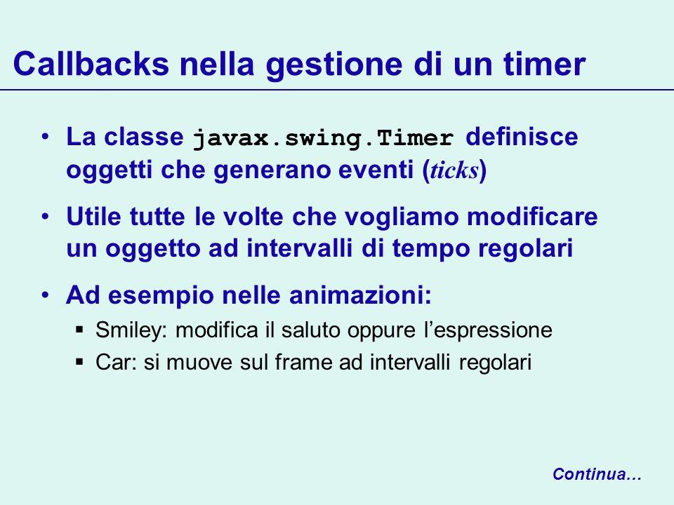 Callbacks nella gestione di un timer