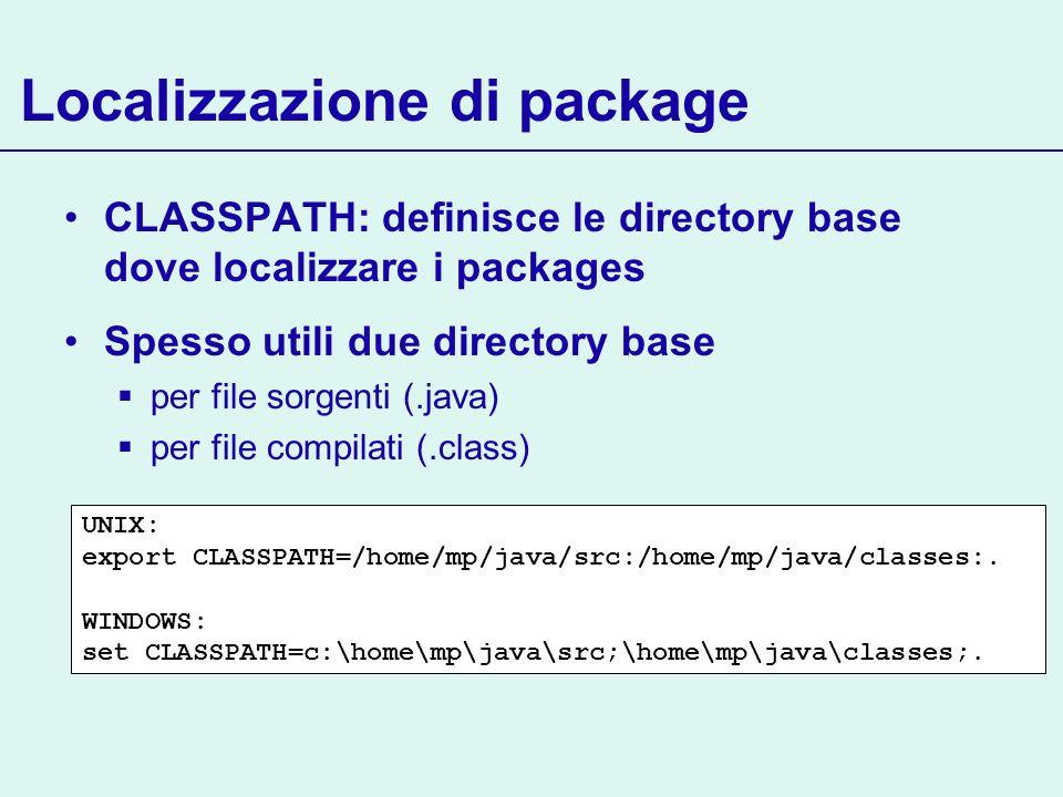 Localizzazione di package