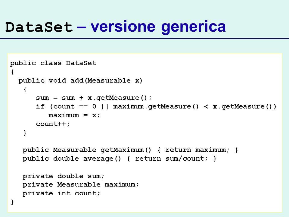 DataSet – versione generica