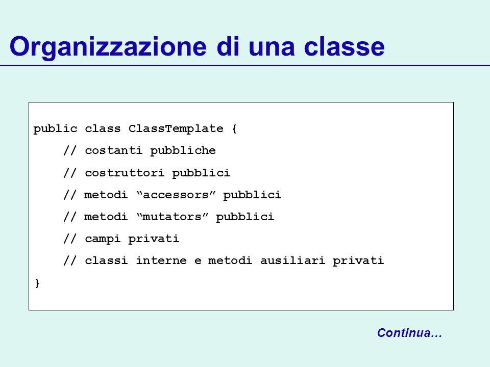 Organizzazione di una classe