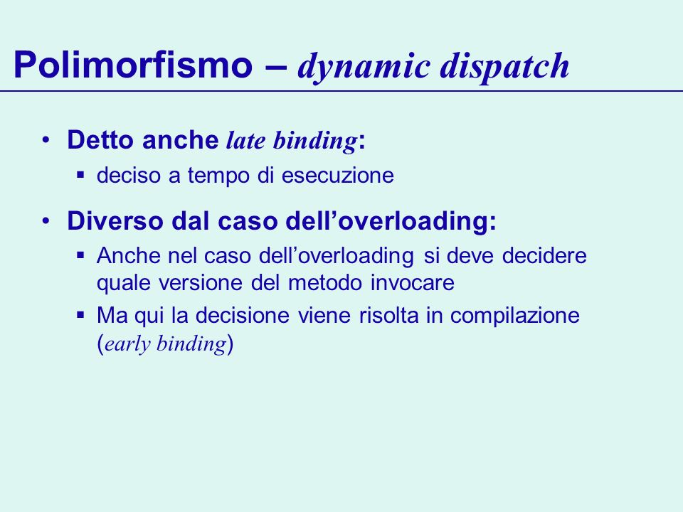 Polimorfismo – dynamic dispatch