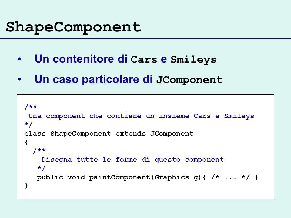 ShapeComponent Un contenitore di Cars e Smileys