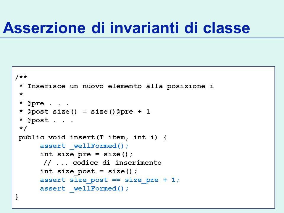 Asserzione di invarianti di classe