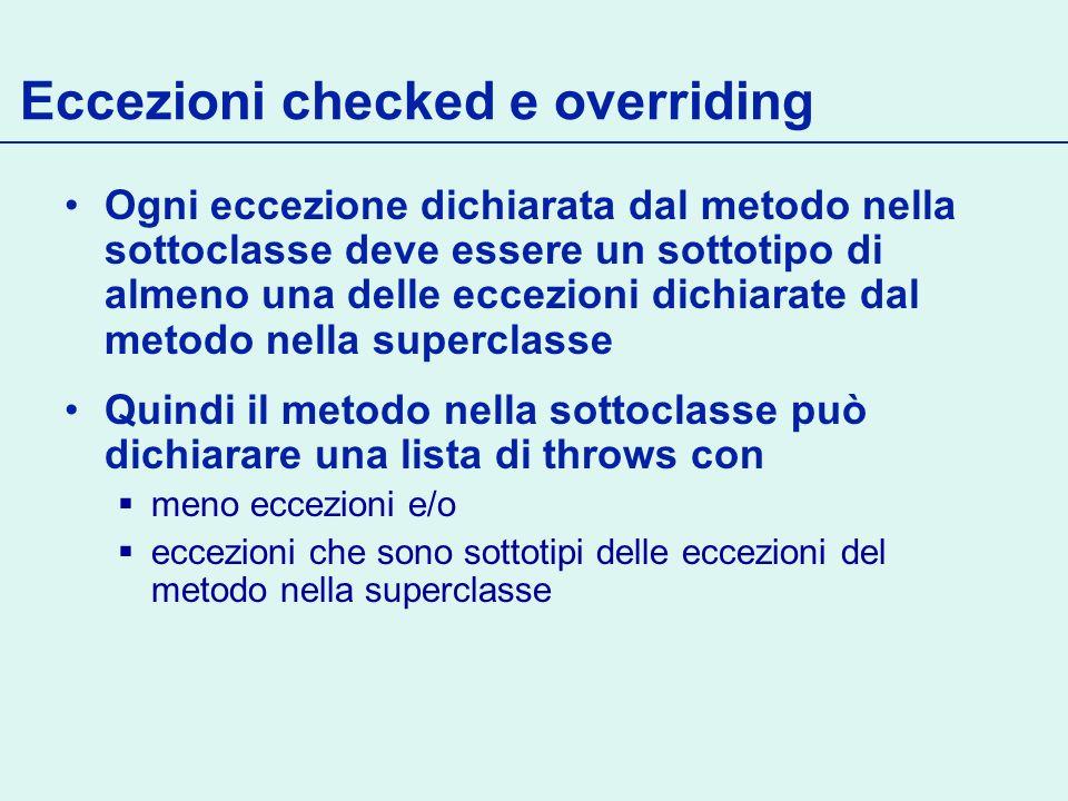 Eccezioni checked e overriding