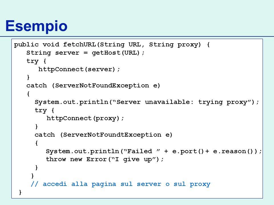 Esempio public void fetchURL(String URL, String proxy) {