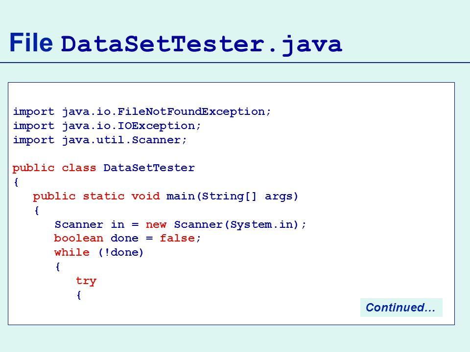 File DataSetTester.java