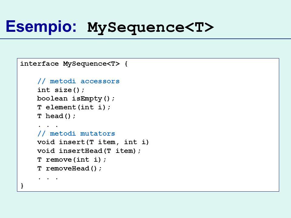 Esempio: MySequence<T>