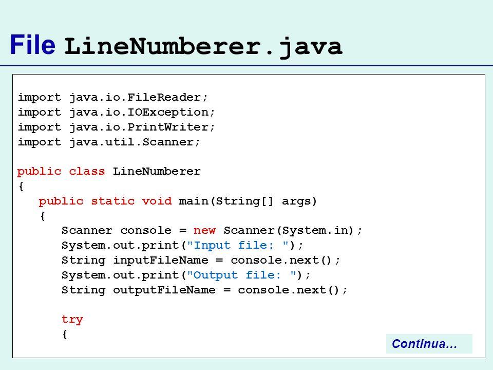 File LineNumberer.java