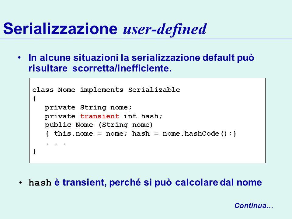 Serializzazione user-defined