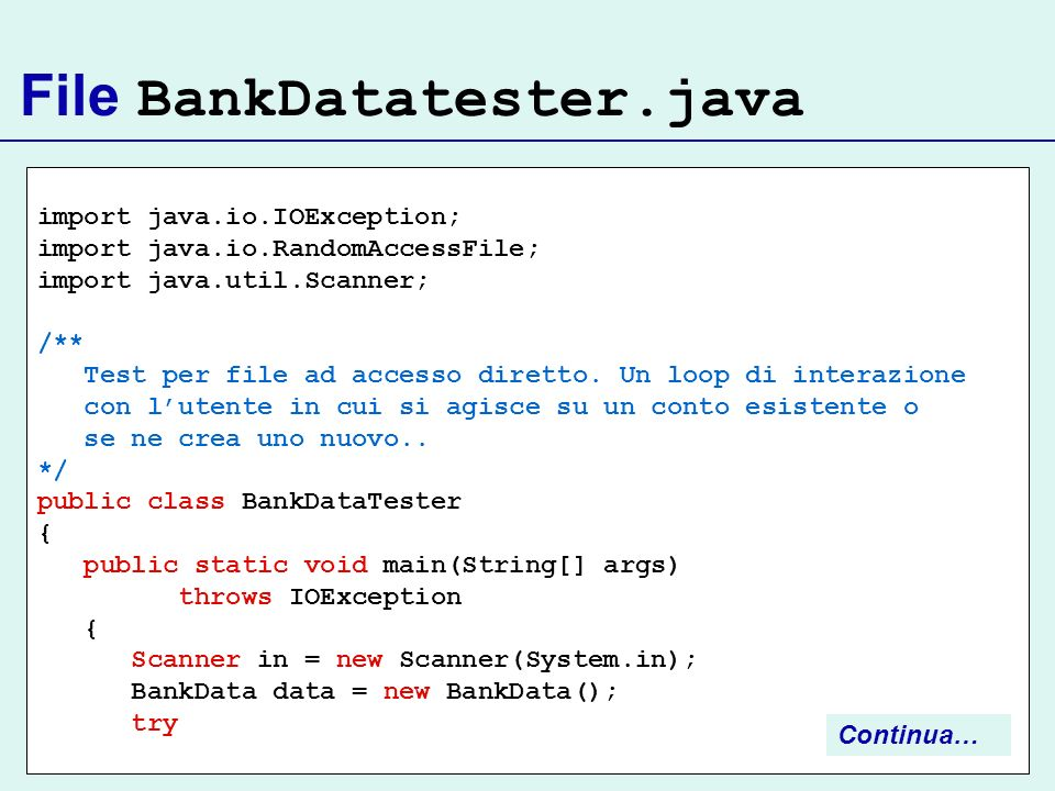 File BankDatatester.java