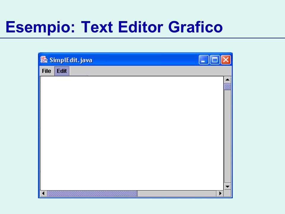 Esempio: Text Editor Grafico