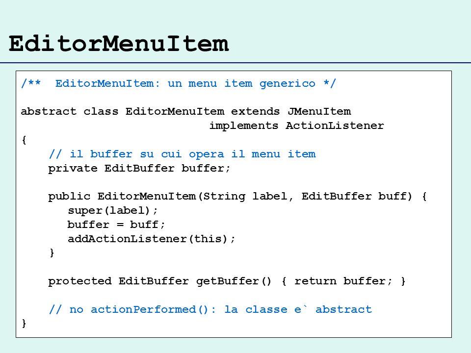 EditorMenuItem /** EditorMenuItem: un menu item generico */