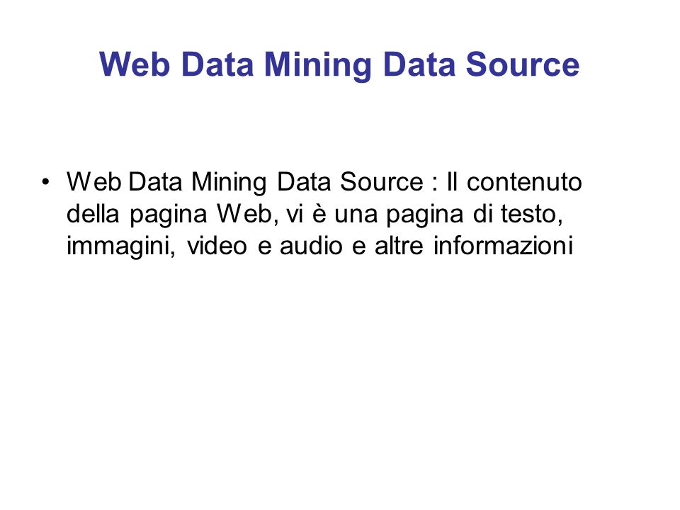 Web Data Mining Data Source