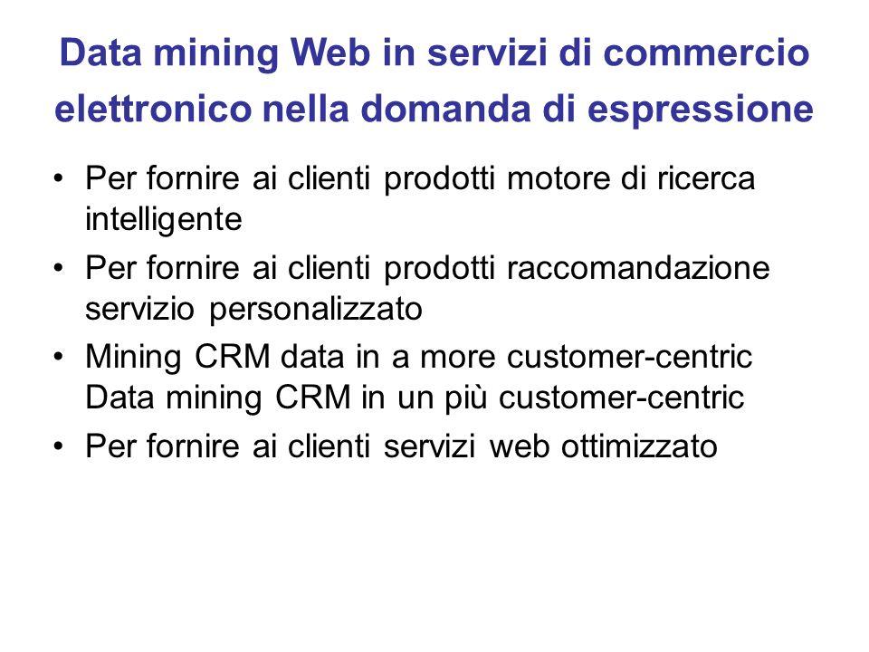 Data mining Web in servizi di commercio elettronico nella domanda di espressione