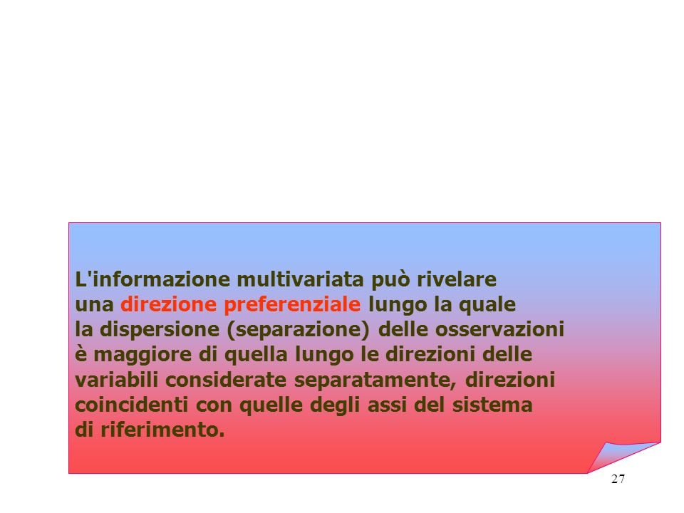L informazione multivariata può rivelare