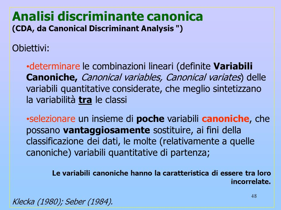 Analisi discriminante canonica
