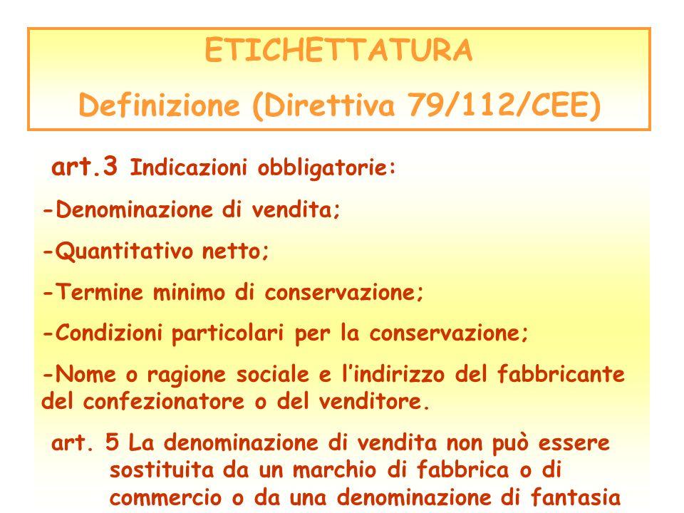 Definizione (Direttiva 79/112/CEE)