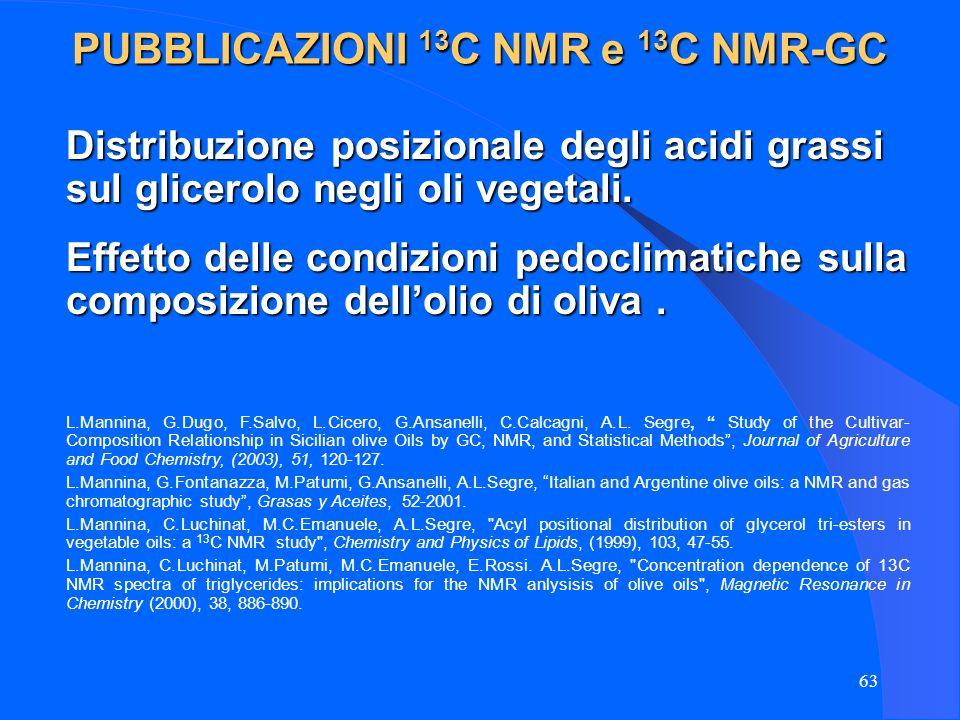 PUBBLICAZIONI 13C NMR e 13C NMR-GC