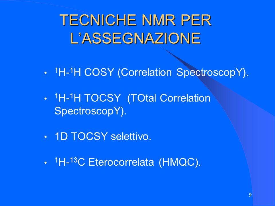 TECNICHE NMR PER L'ASSEGNAZIONE