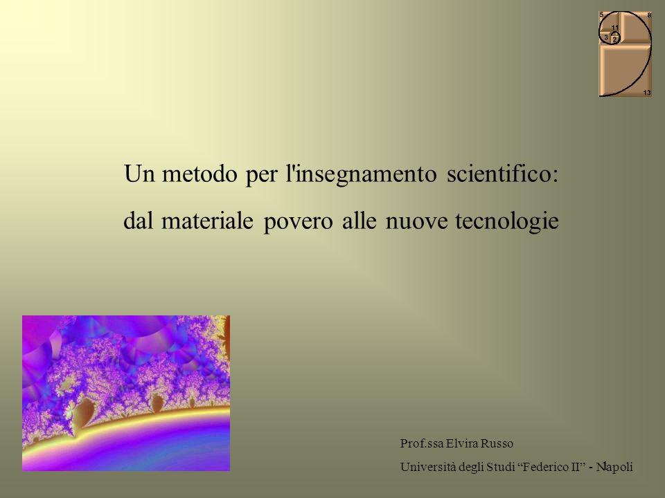 Un metodo per l insegnamento scientifico: dal materiale povero alle nuove tecnologie