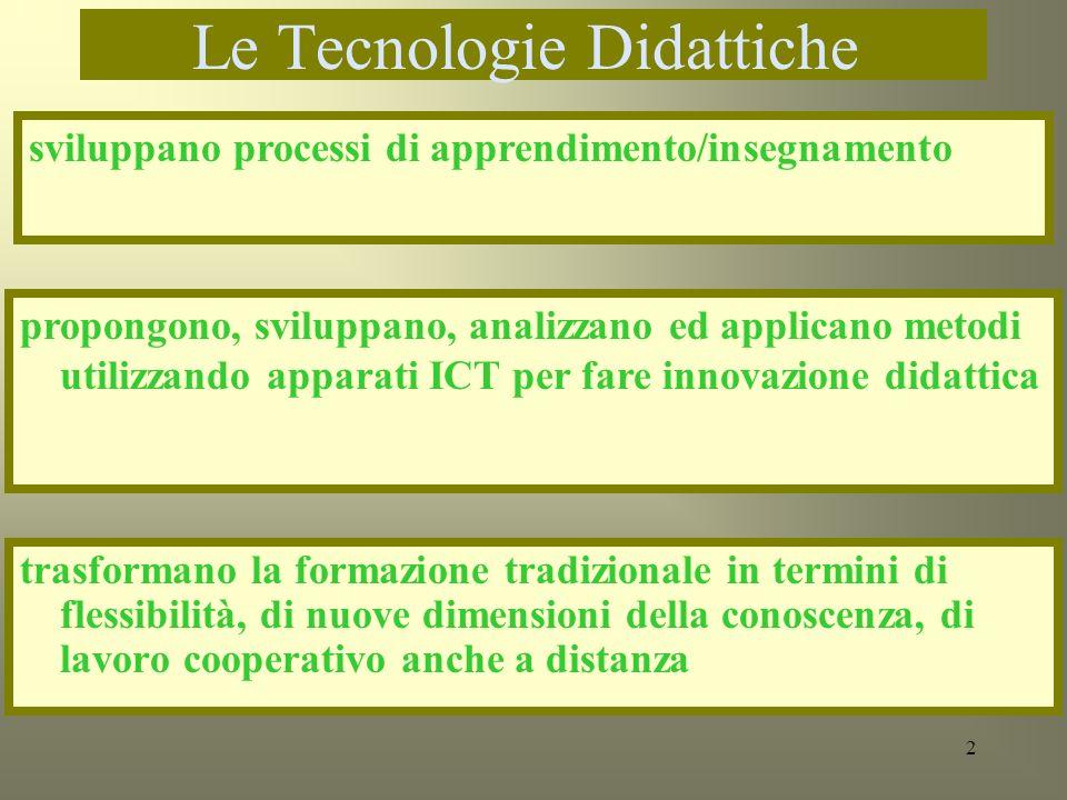 Le Tecnologie Didattiche: