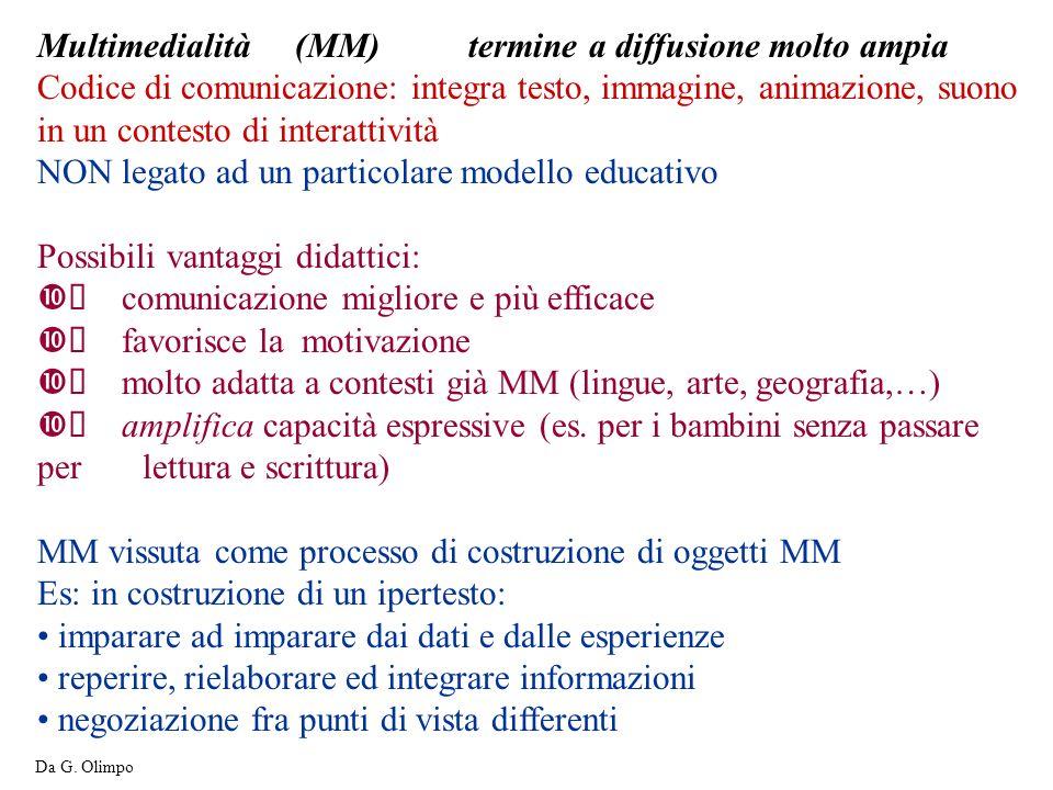 Multimedialità (MM) termine a diffusione molto ampia