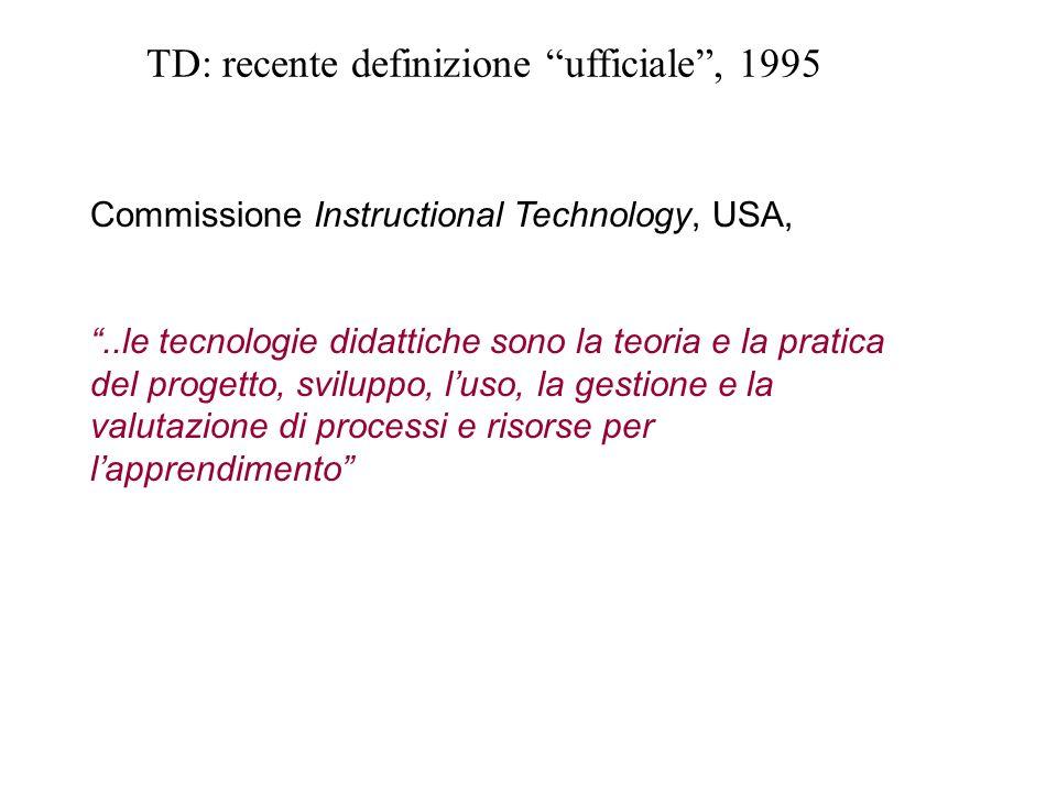 TD: recente definizione ufficiale , 1995