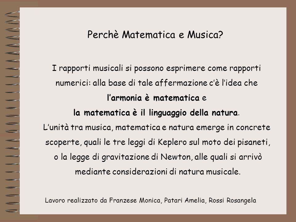 Perchè Matematica e Musica