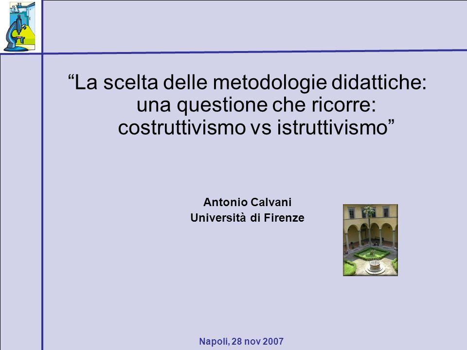 La scelta delle metodologie didattiche: una questione che ricorre: costruttivismo vs istruttivismo