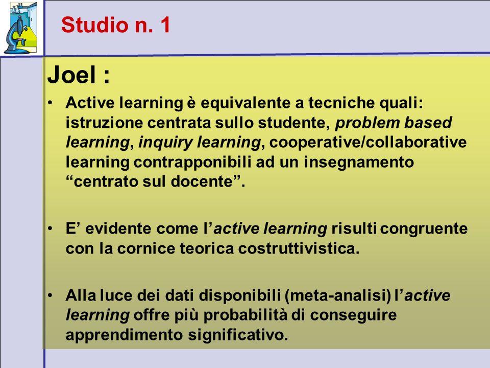 Studio n. 1 Joel :