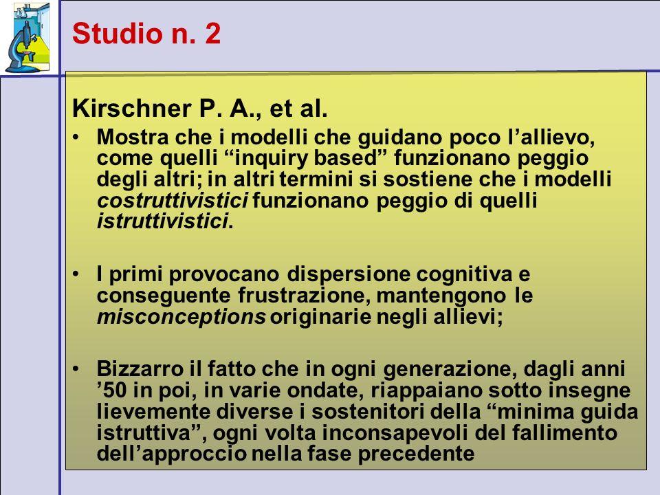 Studio n. 2 Kirschner P. A., et al.