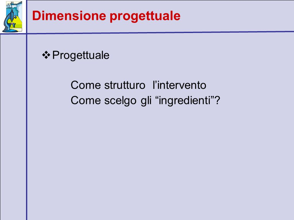 Dimensione progettuale