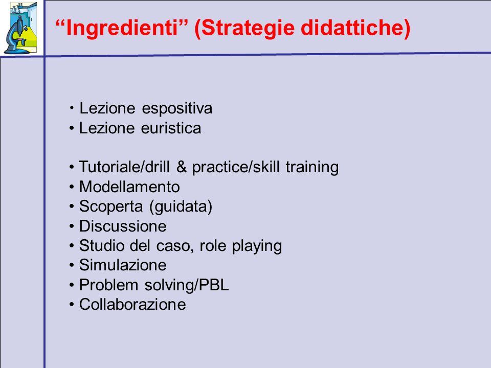 Ingredienti (Strategie didattiche)