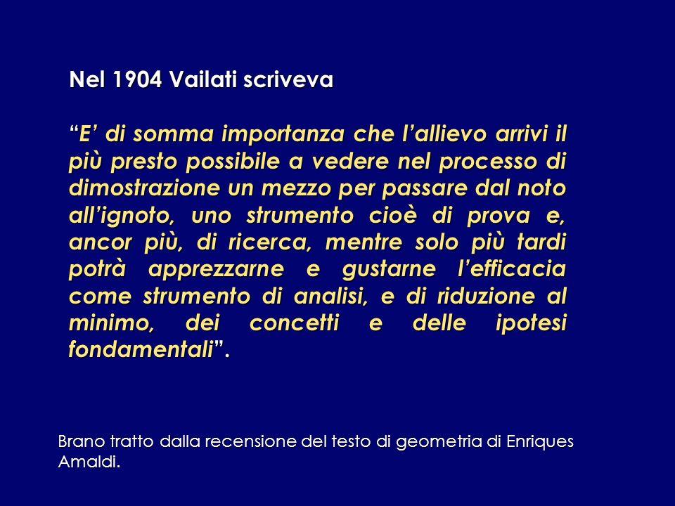 Nel 1904 Vailati scriveva