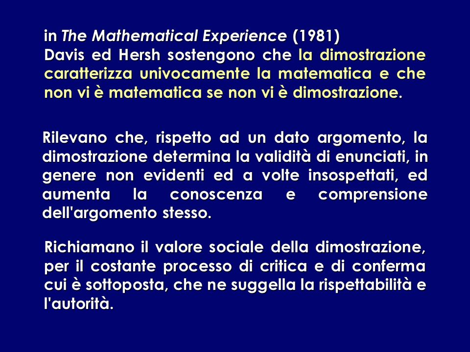 in The Mathematical Experience (1981)