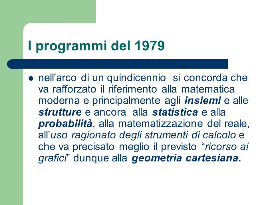 I programmi del 1979