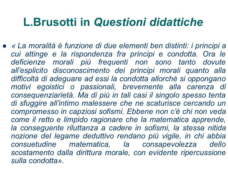 L.Brusotti in Questioni didattiche