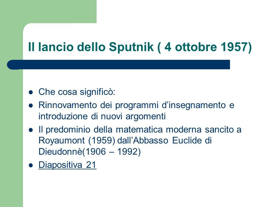 Il lancio dello Sputnik ( 4 ottobre 1957)