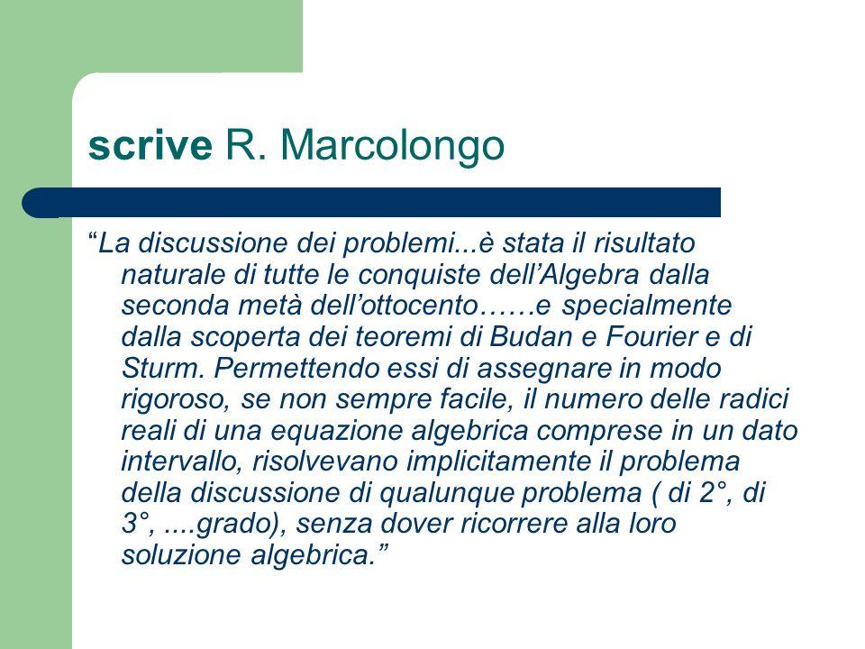 scrive R. Marcolongo