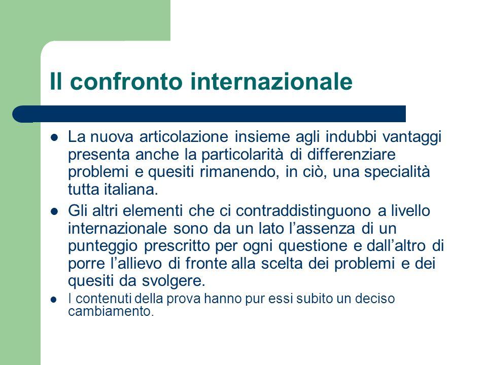 Il confronto internazionale