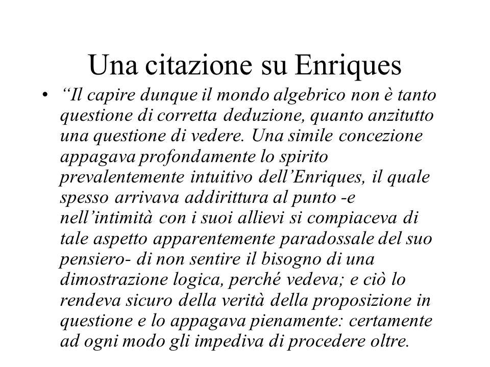 Una citazione su Enriques