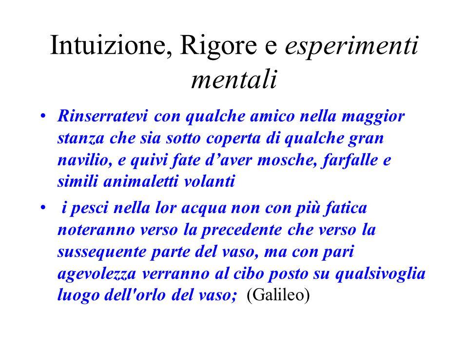 Intuizione, Rigore e esperimenti mentali