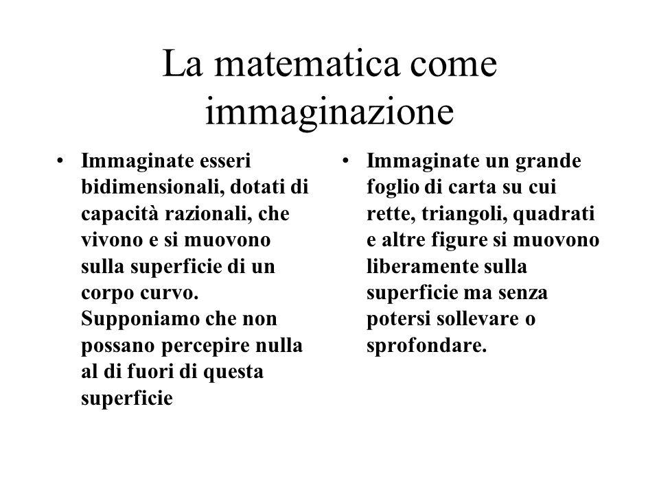 La matematica come immaginazione