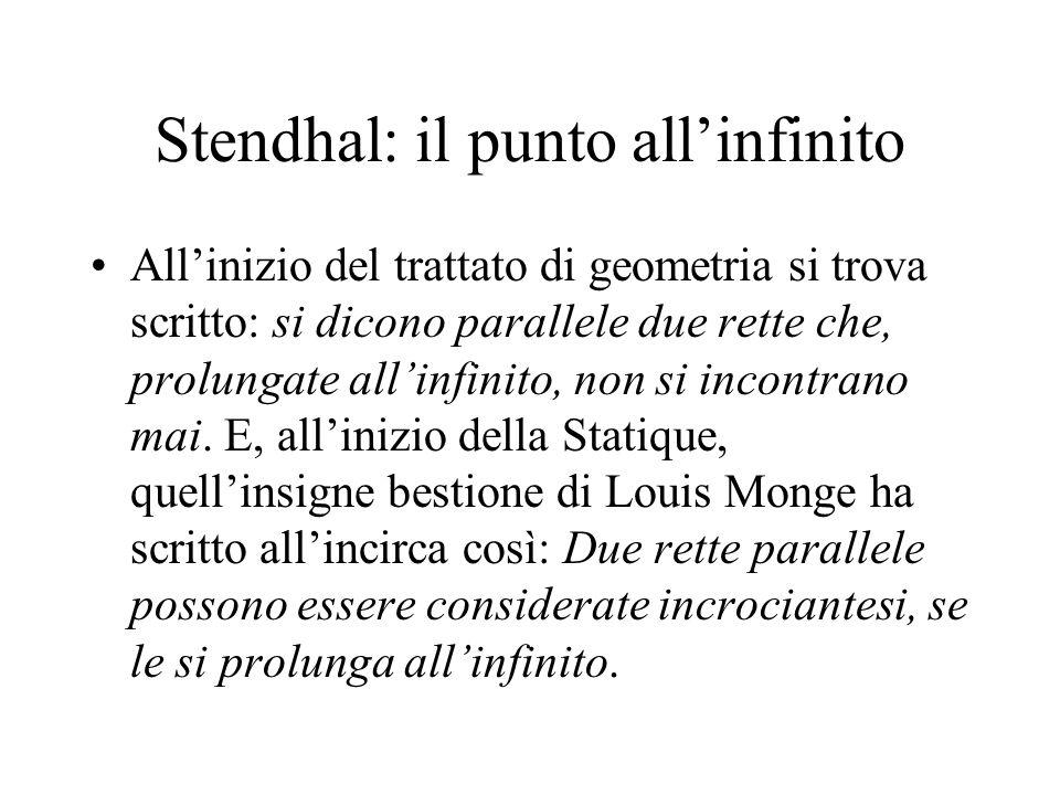 Stendhal: il punto all'infinito