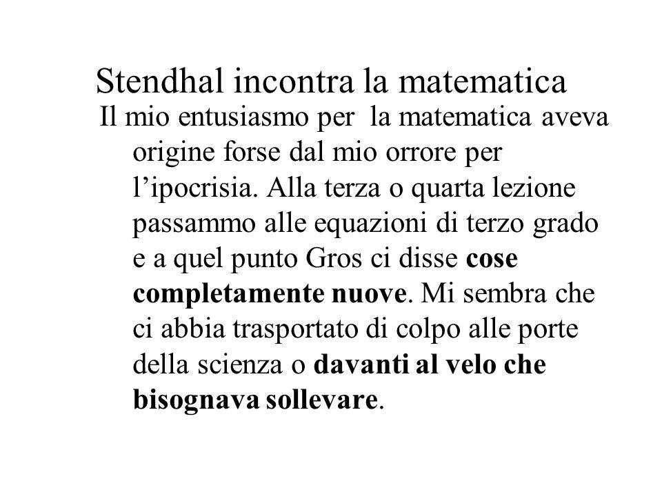 Stendhal incontra la matematica