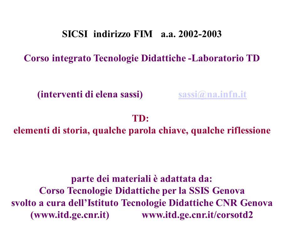 SICSI indirizzo FIM a.a. 2002-2003