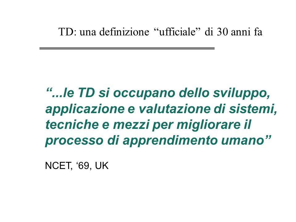 TD: una definizione ufficiale di 30 anni fa